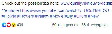 Facebook video campagne Lelie kwekerij Qualily